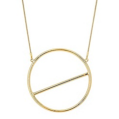 Principles by Ben de Lisi - Circle bar graphic necklace