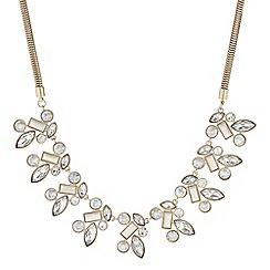 Principles by Ben de Lisi - Designer white stone cluster statement necklace