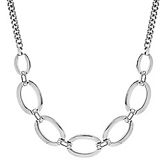 Principles by Ben de Lisi - Designer Silver oval crystal link necklace