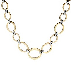 Principles by Ben de Lisi - Designer Textured gold and silver link necklace