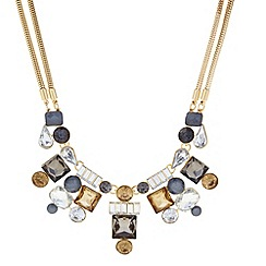 Principles by Ben de Lisi - Designer grey mixed stone cluster necklace