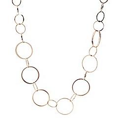 Principles by Ben de Lisi - Designer Gold linked ring long necklace