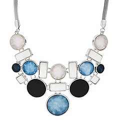 Principles by Ben de Lisi - Designer blue marble circle statement necklace
