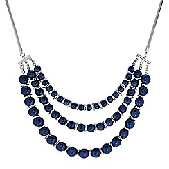 Principles by Ben de Lisi - Designer Blue pearl multi row necklace