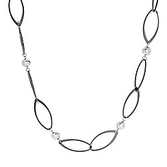 Principles by Ben de Lisi - Designer Silver ball and link chain long necklace