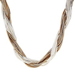 Principles by Ben de Lisi - Designer two tone twisted chain necklace