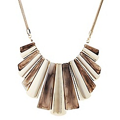 Principles by Ben de Lisi - Designer gold graduated stick necklace