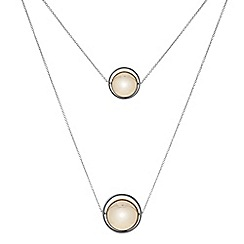 Principles by Ben de Lisi - Designer Two tone spinning orb long pendant necklace