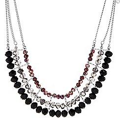Principles by Ben de Lisi - Designer silver mixed bead multi row necklace