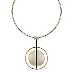 Principles by Ben de Lisi - Designer gold double circle torque necklace