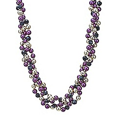 Principles by Ben de Lisi - Designer twisted pearl and bead necklace