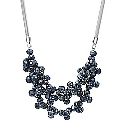 Principles by Ben de Lisi - Designer blue cluster bead multi row necklace