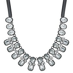 Principles by Ben de Lisi - Designer grey tonal crystal statement necklace