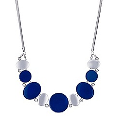 Principles by Ben de Lisi - Designer blue and silver oval necklace