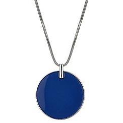 Principles by Ben de Lisi - Designer blue disc pendant necklace