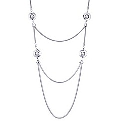 Principles by Ben de Lisi - Designer silver orb multi row necklace