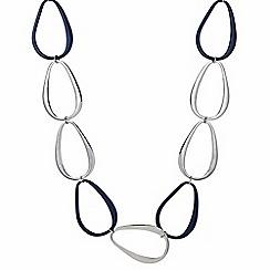 Principles by Ben de Lisi - Designer silver oval link necklace