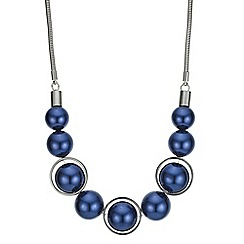 Principles by Ben de Lisi - Designer blue pearl sphere necklace