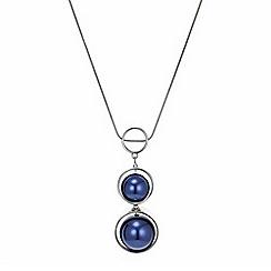 Principles by Ben de Lisi - Designer blue pearl sphere necklace