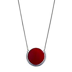 Principles by Ben de Lisi - Designer red disc pendant necklace