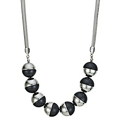 Principles by Ben de Lisi - Designer black and silver orb necklace