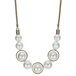 Principles by Ben de Lisi - Designer cream pearl sphere necklace