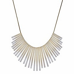 Principles by Ben de Lisi - Designer white ombre gold stick necklace