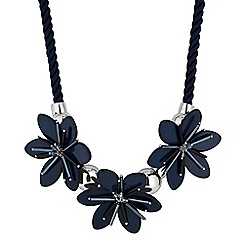 Principles by Ben de Lisi - Designer blue multi flower necklace