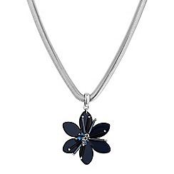 Principles by Ben de Lisi - Designer blue flower choker necklace