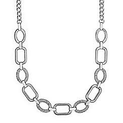 Principles by Ben de Lisi - Silver pave link necklace