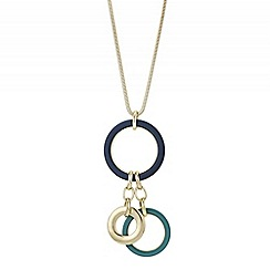 Principles by Ben de Lisi - Designer multi circle drop necklace