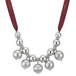 Principles by Ben de Lisi - Designer orb cluster ribbon necklace