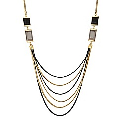 Principles by Ben de Lisi - Designer crystal square multi row necklace