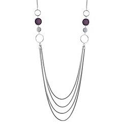 Principles by Ben de Lisi - Designer circle link multi row necklace