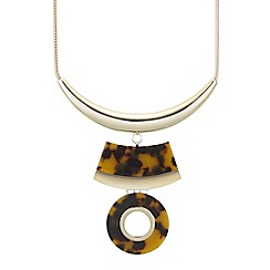 Principles by Ben de Lisi - Designer tortoise shell effect circle necklace