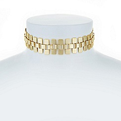 Principles by Ben de Lisi - Designer gold link choker necklace