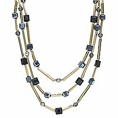 Principles by Ben de Lisi - Designer square beaded multi row necklace