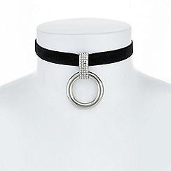 Principles by Ben de Lisi - Designer pave circle choker necklace