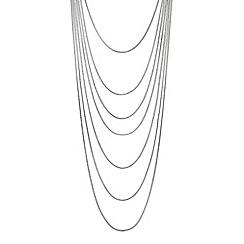 Principles by Ben de Lisi - Designer silver multi row necklace