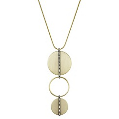 Principles by Ben de Lisi - Designer pave bar disc pendant necklace