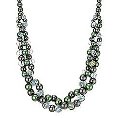 Principles by Ben de Lisi - Designer green facet bead necklace