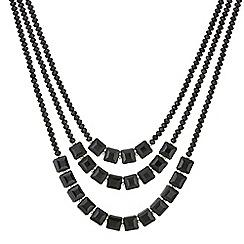 Principles by Ben de Lisi - Designer jet bead multi row necklace