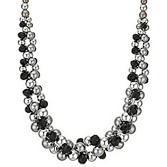 Principles by Ben de Lisi - Designer jet facet bead necklace