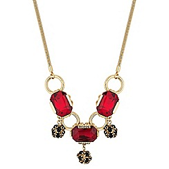 Principles by Ben de Lisi - Designer red facet crystal drop necklace