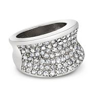 Designer crystal encased stretch ring
