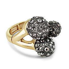 Principles by Ben de Lisi - Designer triple crystal ball stretch ring