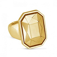 Principles by Ben de Lisi - Designer peach facet stone stretch ring
