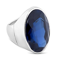 Principles by Ben de Lisi - Designer blue oval stone stretch ring