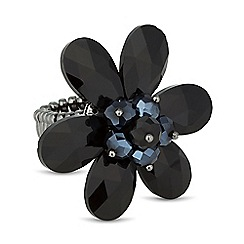 Principles by Ben de Lisi - Designer blue bead 3d flower ring