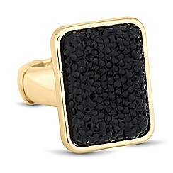Principles by Ben de Lisi - Designer jet embellished square stretch ring
